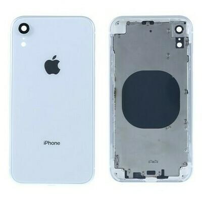 iPhone XR Backglass / Mittelrahmen + Tasten-Set Weiss