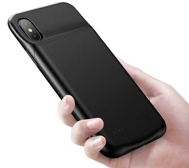 iPhone X & XS Akku Case (3200mAh) Schutzhülle - Schwarz