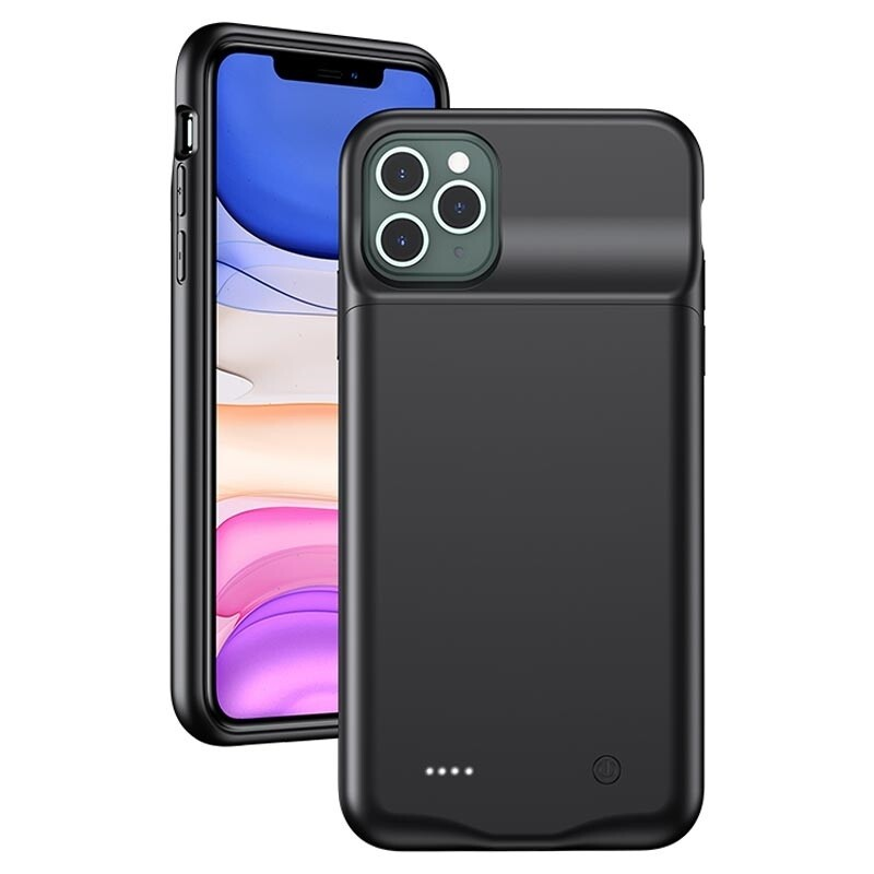 iPhone 11 Pro Max Backpack Akku Case (4500mAh) Schutzhülle - Schwarz