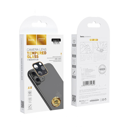 Kamera Schutz-Linse A18  für iPhone 11 Pro / Pro Max Hoco.