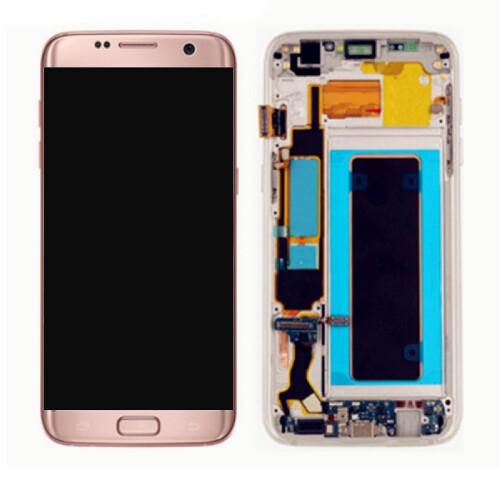 Komplett Bildschirmersatzteil Samsung Galaxy S7 Pink