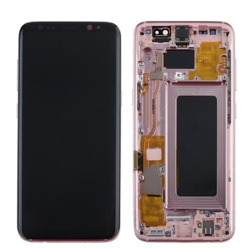 Bildschirmersatz mit Rahmen für Samsung Galaxy S8 Pink