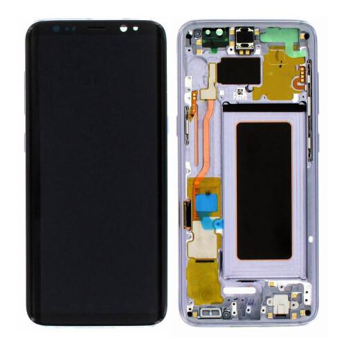 Ersatzbildschirm mit Rahmen für Samsung Galaxy S8 Violet
