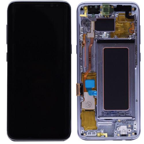 Ersatzbildschirm mit Rahmen für Samsung Galaxy S8 Plus Blau