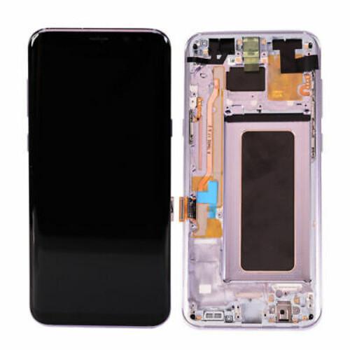 Ersatzbildschirm mit Rahmen für Samsung Galaxy S8 Plus Violet