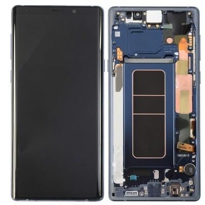 Bildschirmersatz mit Rahmen für Samsung Galaxy Note 9