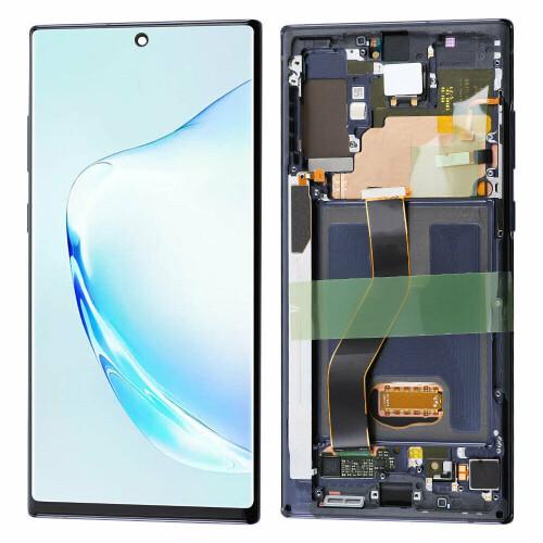 Bildschirmersatz mit Rahmen für Samsung Galaxy Note 10 +