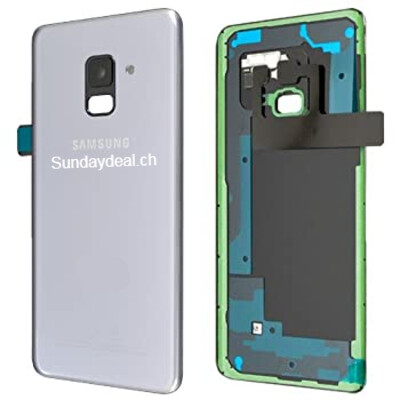 Batterieklappe + Batterieklappe Kleber + Rückfahrkamera Objektiv und Blende für Samsung Galaxy A8 2018 / A5 2018
