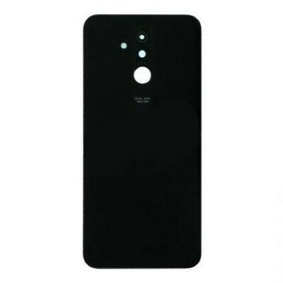 Akku Tür + Rückfahrkamera Objektiv und Lünette  Huawei Mate 20 Lite Schwarz Mit HW Logo