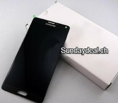Bildschirmersatz mit Rahmen für Samsung Galaxy Note 4 Schwarz