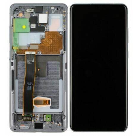 Display LCD Touchscreen + Rahmen cosmic grau Samsung Galaxy S20 Ultra