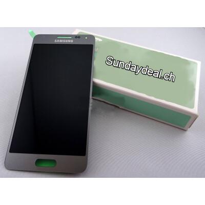 LCD Display in Silber für Samsung Alpha