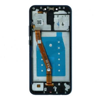 Bildschirmersatz mit Rahmen für Huawei Mate 20 Lite Blau