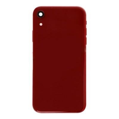 Batterietür + Mittlerer Rahmen mit Kleinteilen für iPhone XR Rot