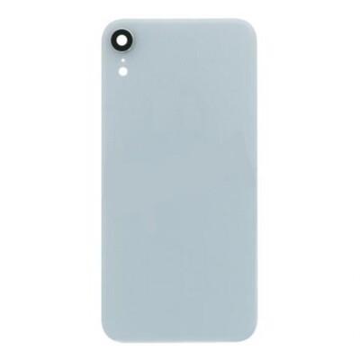 Batterietür mit Rückfahrkameraobjektiv und Blende für iPhone XR Europäische Version Weiss