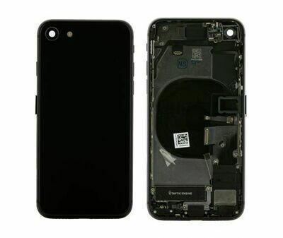 Backcover Gehäuse mit Elektronik für iPhone 8 in Schwarz