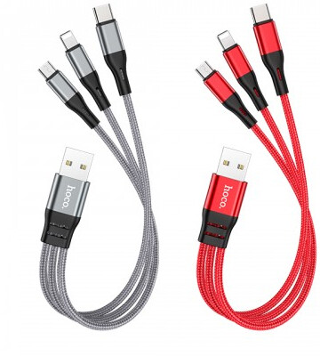 X47 3-In-1 Harbor Charging Cable(Lightning+Micro+Type-C)