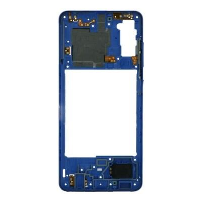 Mittlerer Rahmen für Samsung Galaxy A41 Blau