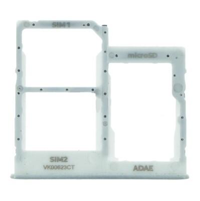 SIM-Karten-Fach für Samsung Galaxy A41 Dual Card Version Weiss