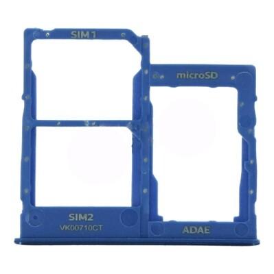 SIM-Karten-Fach für Samsung Galaxy A41 Dual Card Version Blau