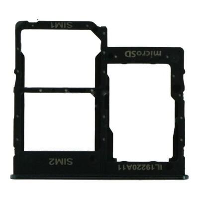SIM-Karten-Fach für Samsung Galaxy A41 Dual Card Version Schwarz