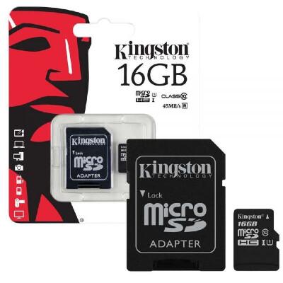 Kingston 16GB Memory Card Class 10 (Micro SD Card)