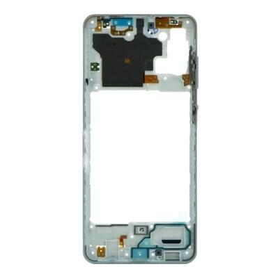 Mittlerer Rahmen für Samsung Galaxy A31 Weiss