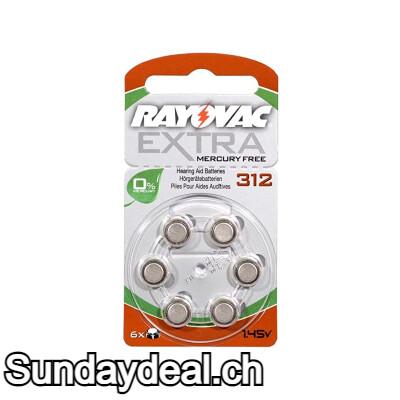 RAYOVAC EXTRA MERCURY FREE 312 1.45v