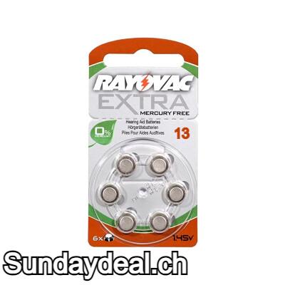 RAYOVAC EXTRA MERCURY FREE 13 1.45v