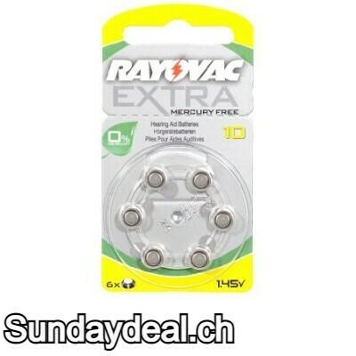 RAYOVAC EXTRA MERCURY FREE 10 1.45v