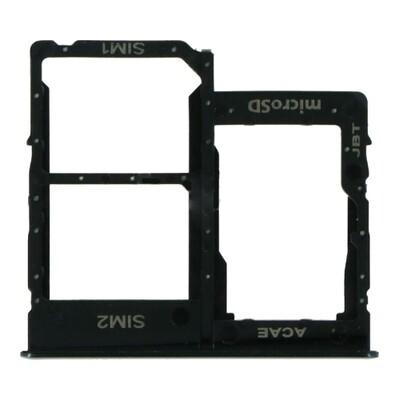 SIM-Karten-Fach für Samsung Galaxy A31 Dual Card Version Schwarz