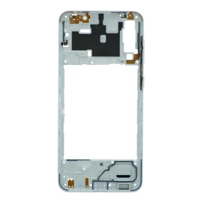 Mittlerer Rahmen für Samsung Galaxy A30s Weiss