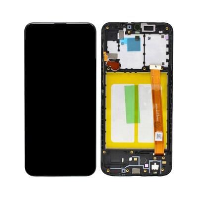 Bildschirm-Ersatz mit Rahmen für Samsung Galaxy A20e