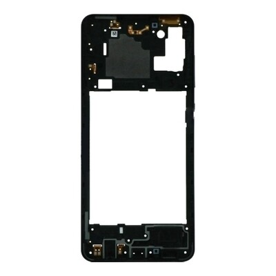 Mittlerer Rahmen für Samsung Galaxy A21s Schwarz