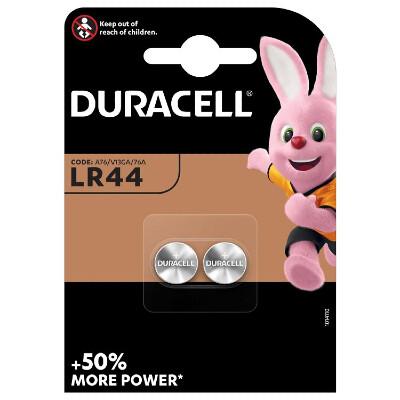 Duracell Knopfbatterie LR44, 1.5V 2 Stück