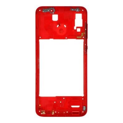 Mittlerer Rahmen für Samsung Galaxy A20 Rot