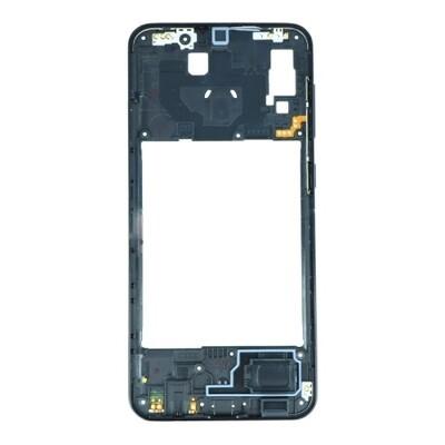 Mittlerer Rahmen für Samsung Galaxy A20 Schwarz