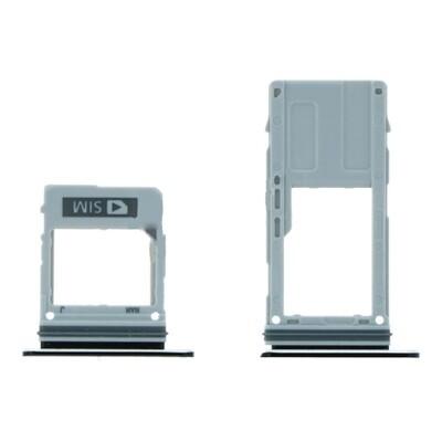 SIM&SD-Kartentr Fach für Samsung Galaxy A8 2018/A5 2018/A8 Plus 2018 Einzelkartenversion Schwarz