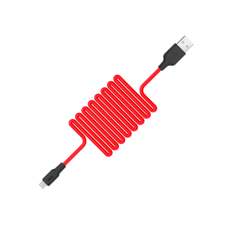 Cable «X21 Silicone» charging data Micro-USB red