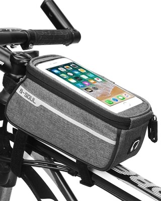Handytasche Fahrrad Rahmentasche B-SOUL Grau