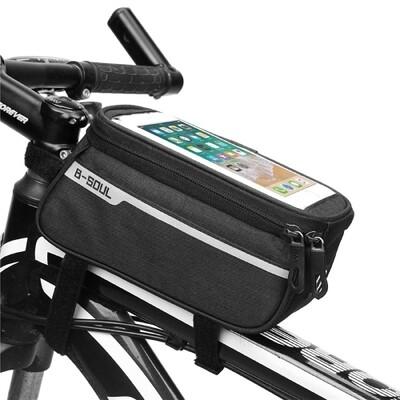 Handytasche Fahrrad Rahmentasche B-SOUL Schwarz