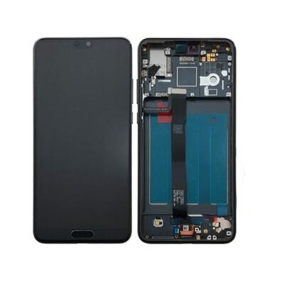 Displayersatz mit Rahmen für Huawei P20 Blau