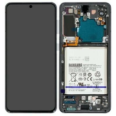 Display Samsung Galaxy S21 inkl. Akku phantom Schwarz