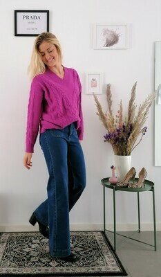 Nora sweater ~ purple