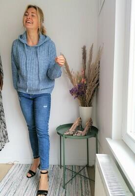 Feline sweater ~ blue