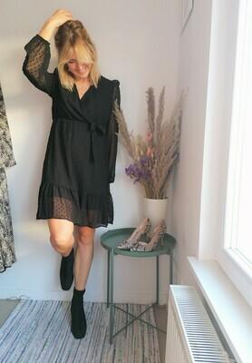 Dotsy dress ~ black