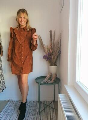 Tina dress ~ rust