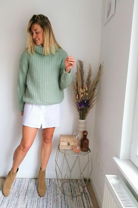 Flora sweater ~ mint green