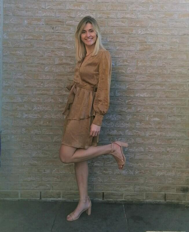 Odette dress ~ camel