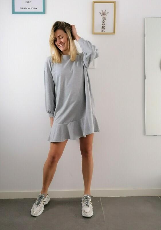 Luna dress ~ grey